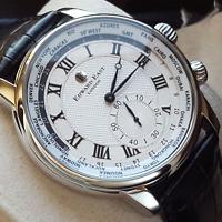 Orologio Worldtimer Uomo Edward East Mov SEIKO VD78 Japan's NUOVO LISTINO €445