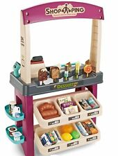 Kids Pretend Sweet Cart Supermarket Play Set Sounds Scanner Debit Machine Lights