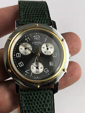 Authentic Hermes Chronograph Gold Steel Mens Watch