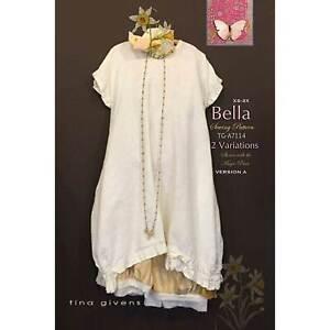 """TINA GIVENS """"BELLA 2 VARIATIONS DRESS A7114"""" Sewing Pattern"""