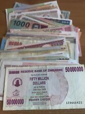 More details for lot of 100 world banknotes. all different. worldwide collection.