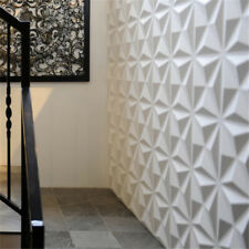 12pcs PVC 3D Wall Panels Ceiling Tiles Textured Home Decoration Background White