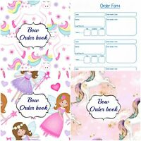 Hair bow making order book keep your orders organised A4 60 entries