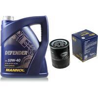 Ölwechsel Set 5 Liter MANNOL Defender 10W-40 + SCT Ölfilter Service 10164121