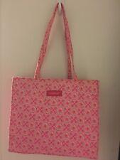 Longaberger Basket Rare Horizon Of Hope Pink Floral Purse Bag Tote Exclnt Clean