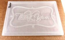 New listing Thank You in Frame Embossing Folder 4 x 5-1/2 Inches Darice Used
