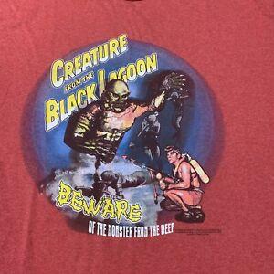 Vintage Creature From The Black Lagoon Ringer T-Shirt Horror Film Men's Size L