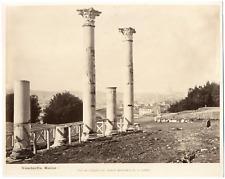 Italie, Rome, Roma, palazzo dei cesari biblioteca e accademia Vintage albumen pr