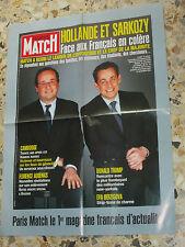 AFFICHE POSTER PUBLICITE PARIS MATCH 2005 NICOLAS SARKOZY FRANCOIS HOLLANDE