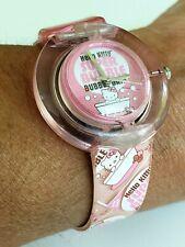 2004 Pink Hello Kitty HK504 Super Bubble Bubblebath Quartz Watch Plastic Sanrio