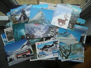 50 POSTCARDS OF MOUNTAINS JUNGFRAU, MT. HOOD, MONT BLANC, RILA, VICTORIA GLACIER