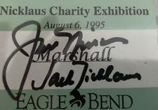 New listing jack Nicklaus signed Charity Name Tag Jsa Sticker