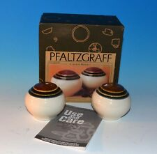 Pfaltzgraff Canyon Ridge Round  Salt & Pepper Shakers Cream with natural tones