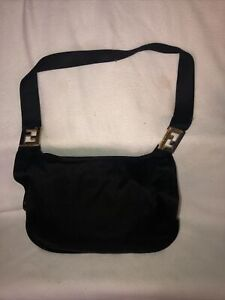 Vintage Fendi Black Nylon Purse