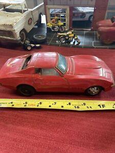 Vintage Taiyo Tin Corvette Bump & Go NICE LOOK PARTS/REPAIR NICE LOOK