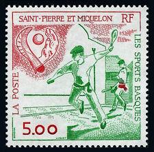 St Pierre & Miquelon 571, MNH. Basque Sports, 1991