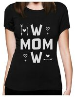 Very Cute Baby Boy Footprints Mom to Be Pregnant Maternity Shirt Gift Idea