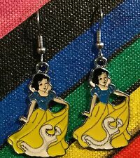 SNOW WHITE Earrings Disney Stainless Hook New Princess