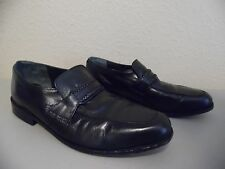 DAVID TAYLOR Men's Black Leather Upper & Lining Loafers Shoes Size 11 M