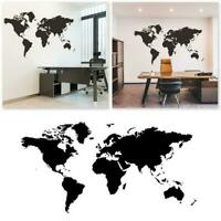 World Map Wall Sticker Home Living Room Decor Decal Stickers K9Z4