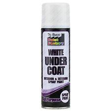 4x 250ml Blanc Sous-couche Spray Boîtes Peinture En Spray Intérieur Extérieur