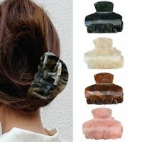 Colorful Women Acrylic Hair Claw Crab Clamp Make Up Hair Clip Hair Styling Gift