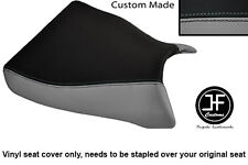 GREY AND BLACK VINYL CUSTOM FOR KAWASAKI ZXR 750 93-95 (L M) FRONT SEAT COVER