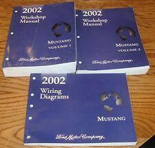 2002 Ford Mustang Shop Service Manual 1 & 2 + Wiring Diagram Set 02