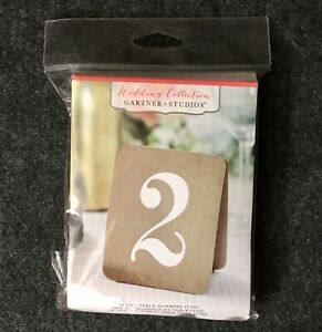 New Gartner Studios Wedding Collection Reception Table Numbers 1-12 Banquet Q
