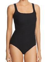 Gottex Women's Swimwear Black Size 10 Geometric Textured One-Piece $118 #206