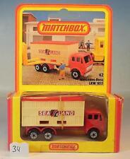 Matchbox Superfast Nr. 42 Mercedes Container Truck Deutsche Hösbach N2 OVP #034