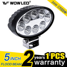 WOW - 24W LED Work Light Oval Flood Driving Lamp Offroad Light Bar SUV Truck 4X4