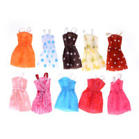 10Pcs/ lot Fashion Party Doll Dress Clothes Gown Clothing For Doll SG