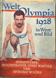 Weltolympia 1928 in Wort und Bild (Waitzer/Dörr), Amsterdam,und diverse Zeitungs
