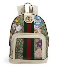 Gucci Flora Supreme Blooms Monogram Coated Canvas Ophidia GG Mini Backpack Small