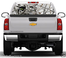 Reaper Bow Hunter Snowstorm #02 Rear Window Graphic Tint Truck Stickers Decals