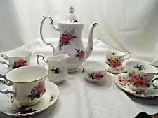 Royal Albert Prairie Rose Bone China Coffee tea pot cream sugar cup and saucer