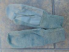 Swiss Army Heavy wool mittens w/leather palms, great ski gloves, M-XL, ex. cd.
