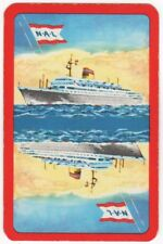 Playing Cards 1 Swap Card Vintage NAL NORWEGIAN AMERICA LINE Shipping Ship Liner
