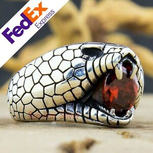 Panther 925 Sterling Silver Gothic Biker Retro Luxury Men's Ring All Sizes