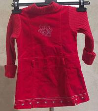 ° CATIMINI °- Robe rouge Bi-matière Taille 3 ans