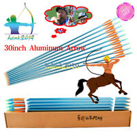 30inch Archery Aluminum Arrow Spine 300 with Changable Point shaft bolts