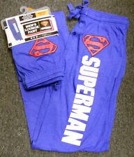 NEW Mens DC Comics SUPERMAN blue LOUNGE PANTS Sweatpants sz- Med MEDIUM 32-34