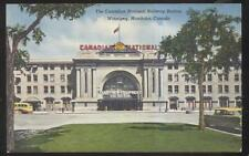 Postcard Winnipeg Manitoba/Canada National Railroad New Equipment Station 1950s