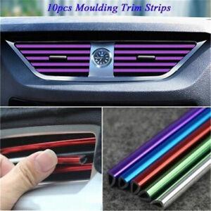 10x Car Interior Decoration Air Vent Outlet Cover Sticker Colorful Strip Mouldin