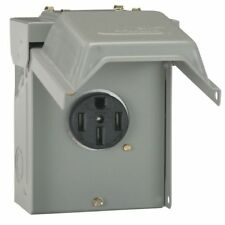 GE 50 Amp Temporary RV Power Outlet Outdoor Receptacle Heavy Duty Housing Plug