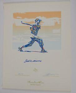 TED WILLIAMS AUTO AUTOGRAPH SIGNED CARLO BENINATI GOLD SERIAGRAPH #89/99 PRINT