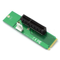 PCI-E 4X Female To NGFF M.2 Expand Card M Key Male Adapter Power Cable Converter