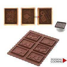Silikomart Kit taglia biscotti con stampo silicone decorazioni Gnam Gnam