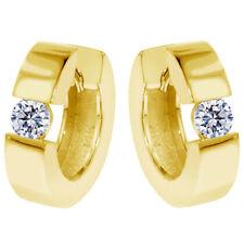 0.65 CT Large Diamond Hoops/Huggies in 18K Yellow Gold New